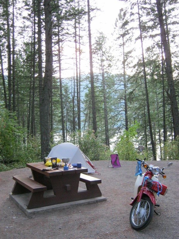 Symba at Texas Creek campground, Gladsone Provincial Park