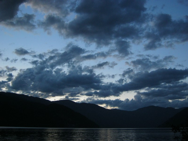 Darkness falls on Christina Lake