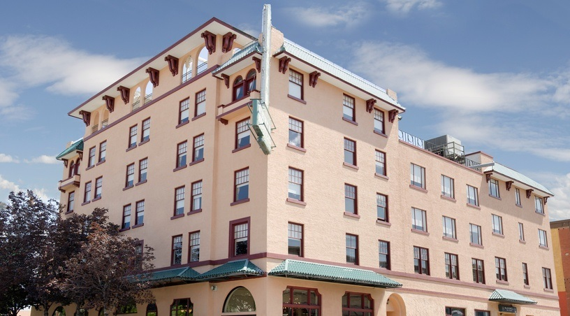 Exterior of The Plaza Hotel in Kamloops
